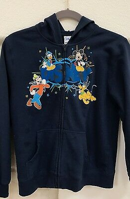 Child's Disney Mickey Mouse Friends Sweatshirt Hoodie size XL 14/16 Navy Blue