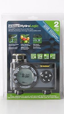 """""""melnor"""" Hydrologic Advanced  2-Zone Model 53101  Electronic  Water Timer """"new"""""""