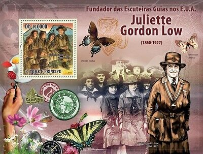 Sao Tome Girl Guides In Usa Scouts Scouting Butterfly S/s Mnh C10 St10504B