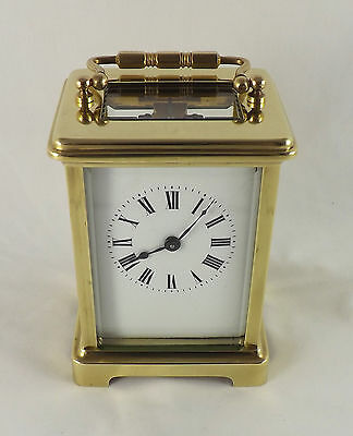 Antique French 8 Day Brass Carriage Clock - Fully Cleaned And Serviced