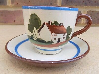 WATCOMBE Motto Ware Tea Cup and Saucer