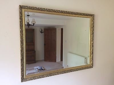 Large ornate vintage style mirror with gold frame