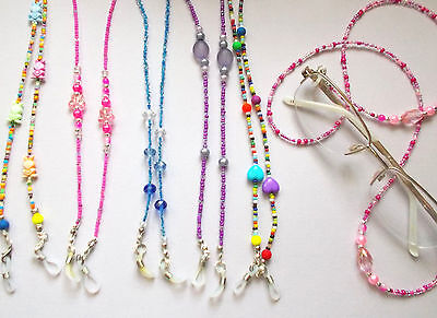 New Glasses / Spec Chain/cord beaded and charms various designs and colours