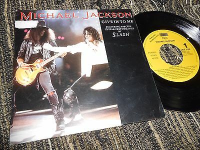 "MICHAEL JACKSON GIVE IN TO ME/Dirty Diana 7"" 1993 PROMO SPAIN"