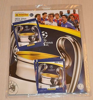 Panini Champions League 2014-2015 Starter Pack Empty Album + 4 packets Russian