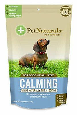 Calming For Dogs, Natural Behavior Support Formula, 30 Bite Sized Soft Chews