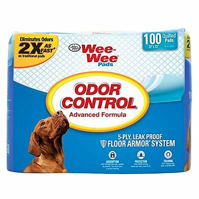 "Four Paws Wee-Wee Odor Control Pads - 100 Ct ( 22 "" Inch X 23"" Inch )"
