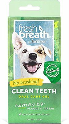 Tropiclean Fresh Breath Plaque Remover Pet Clean Teeth Gel 4Oz