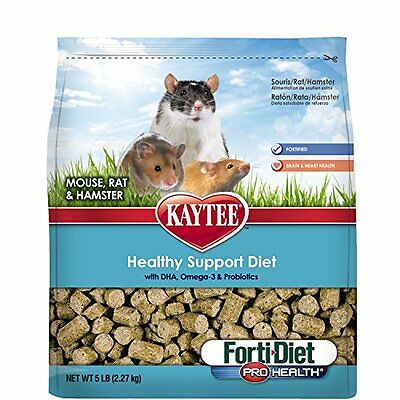 Kaytee Forti Diet Pro Health Small Animal Food For Mice And Rats, 5-Pound