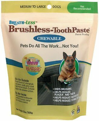 Ark Naturals Breath-Less Chewable Brushless-Toothpaste Medium To Large 18 oz