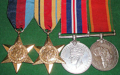 Ww2 Medal Group To A South African Recipient, With Africa Star, C.w.s.cilliers