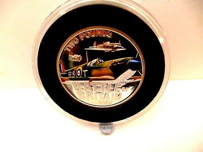 2010 Jersey--Silver Proof £2 Coin--Battle Of Britain