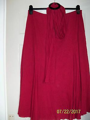 Ladies Plum Skirt size 16 long by Per Una