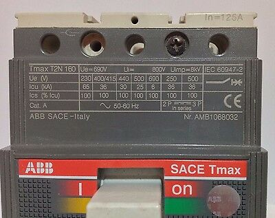 ABB Sace Tmax T2N 160 - 3 Phase Circuit Breaker 125A