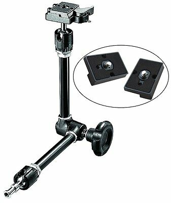 Manfrotto Variable Friction Magic Arm Two Replacement Plates Tripods Accessories