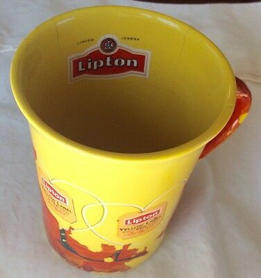 RARE Signed Vintage Lipton Yellow Label Finest Blend Tea Bag Logo Mug Cup