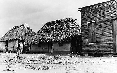 RPPC Native American houses with children - 1920s ?