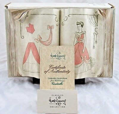 """WDCC """"Cinderella Sewing Book"""" from Disney's Cinderella in Box with COA"""