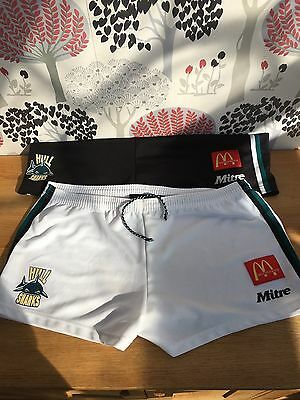 2 X Rare Vintage 1990's Hull Sharks Rugby League Shorts Hull FC