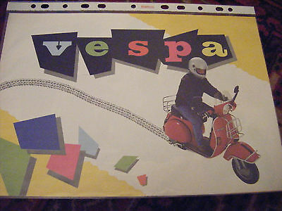 1986 Vespa range A4 brochure English PX200E,T5,PX150E,PK125S,PK100XL,PK50XL etc.