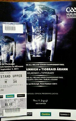 Kilkenny V Tipperary 4/9/2011 Gaa All Ireland Hurling Final + Ticket