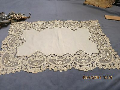 Outstanding Antique Tulle  Lace Piece  Endless Possibilities  For Reuse Dolls A2