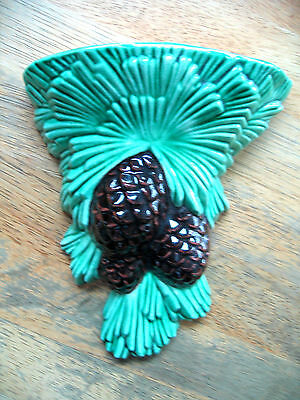 Vintage Wall Pocket Pine Cones and Pine Tree Needles