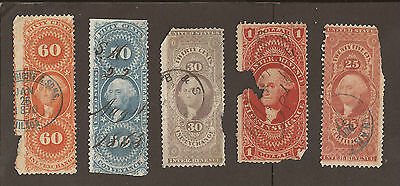 USA. Cinderella poster stamps. (used) Revenues all shown.