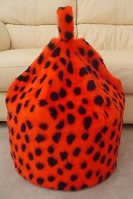 Cover Only Bean Bag  Faux Fur 3 Cubic Ft Size Children's Red Ladybird New