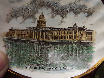 Vintage Gray's Pottery lustre Dish depicting Dublin Customs House Fully Stamped