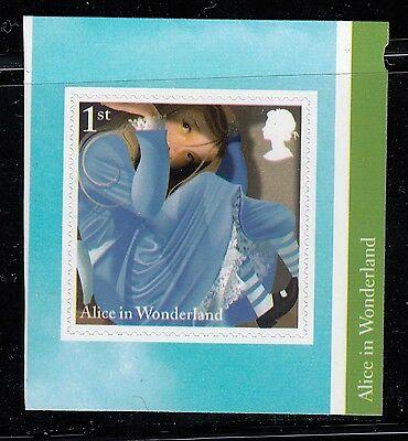 Gb Qeii Mnh Ex Booklet Stamp 2015 Self Adhesive Alice In Wonderland Large Alice