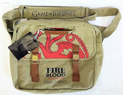 Game of Thrones Messenger Bag - Targaryen Fire And Blood - Official HBO Product
