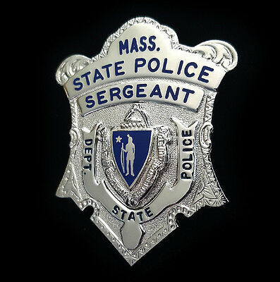 Obsolete Blackinton Massachusetts State Police Badge Sergeant Highway Patrol MA