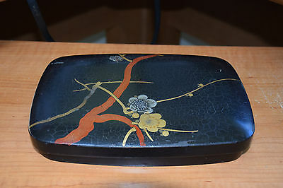 Japanese old lacquer Makie ware storage box