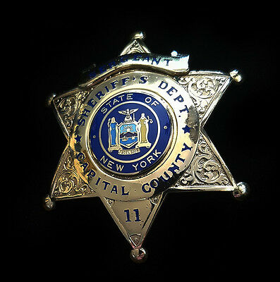 Obsolete Blackinton State Of New York Sheriff Capital County Police Star Badge