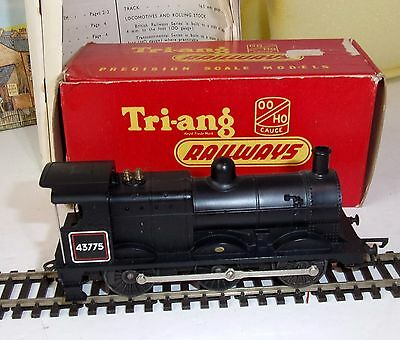 Triang R251 0-6-0 Class 3F Tender Loco black livery working boxed
