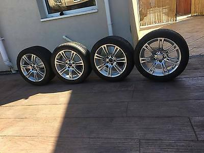 BMW Alloy Wheels with NEW Tyres 18 inch x 4 Original