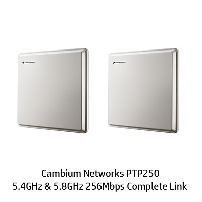 Cambium Networks PTP250 Integrated 5.4 / 5.8 GHz  256Mbps Complete Link
