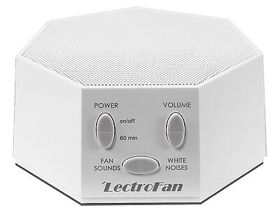 LectroFan - Fan Sound and White Noise Machine - White with UK AC/USB Adapter