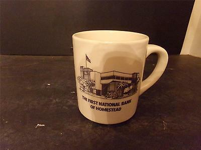 Vtg First National Bank Of Homestead Florida Coffee Cup England (70)