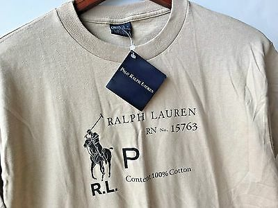 NEW Old Stock Vintage  Polo by Ralph Lauren Men's  T-Shirt Size : L