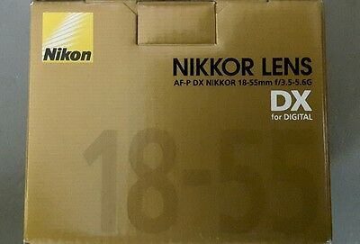 New Nikon 18 - 55 mm f/3.5-5.6G AF-P DX Nikkor Lens for Camera