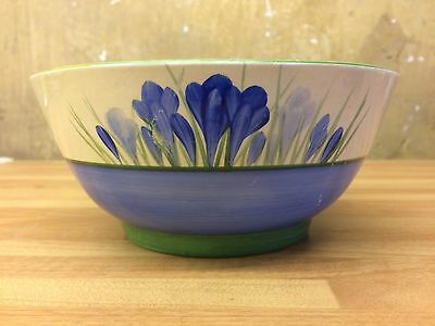 Clarice Cliff Bizzare Ware Blue Crocus Bowl 6.5 Inch Wilkinson
