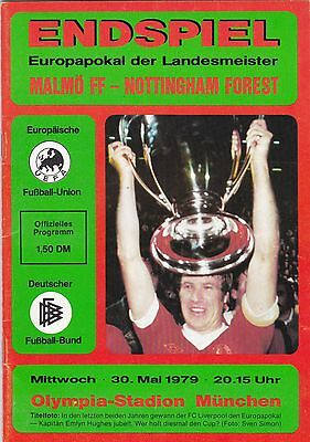 1979 European Cup Final Malmo FF v Nottingham Forest SIGNED John McGovern