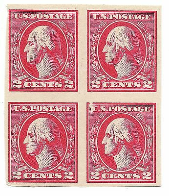 USA 1918-1920 Washington Stamps 2c Block Of Four imperforated - rare