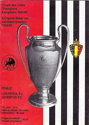2 x Liverpool European Cup Final Progs 1985 Juventus '85 and Real Madrid '81