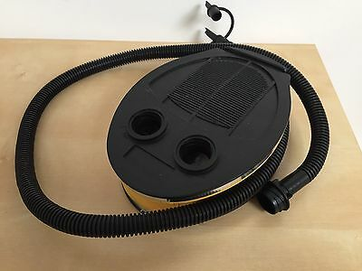 Air Pump For Air Bed Black And Yellow Manual, Used