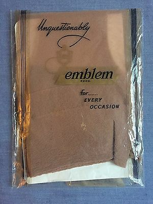 "Vintage Emblem RHT Nylon stockings Size 10½-11"" Colour Tan"