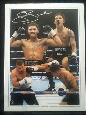 HAND SIGNED CONOR BENN BOXING MONTAGE 16x12 INCH PHOTO 100% GENUINE + COA