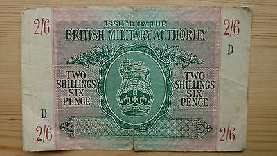 British Military Authority – 2/6 Banknote